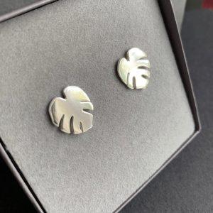 Cheese Plant leaf earrings