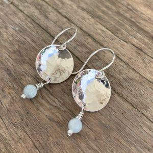 Silver and Aquamarine earrings