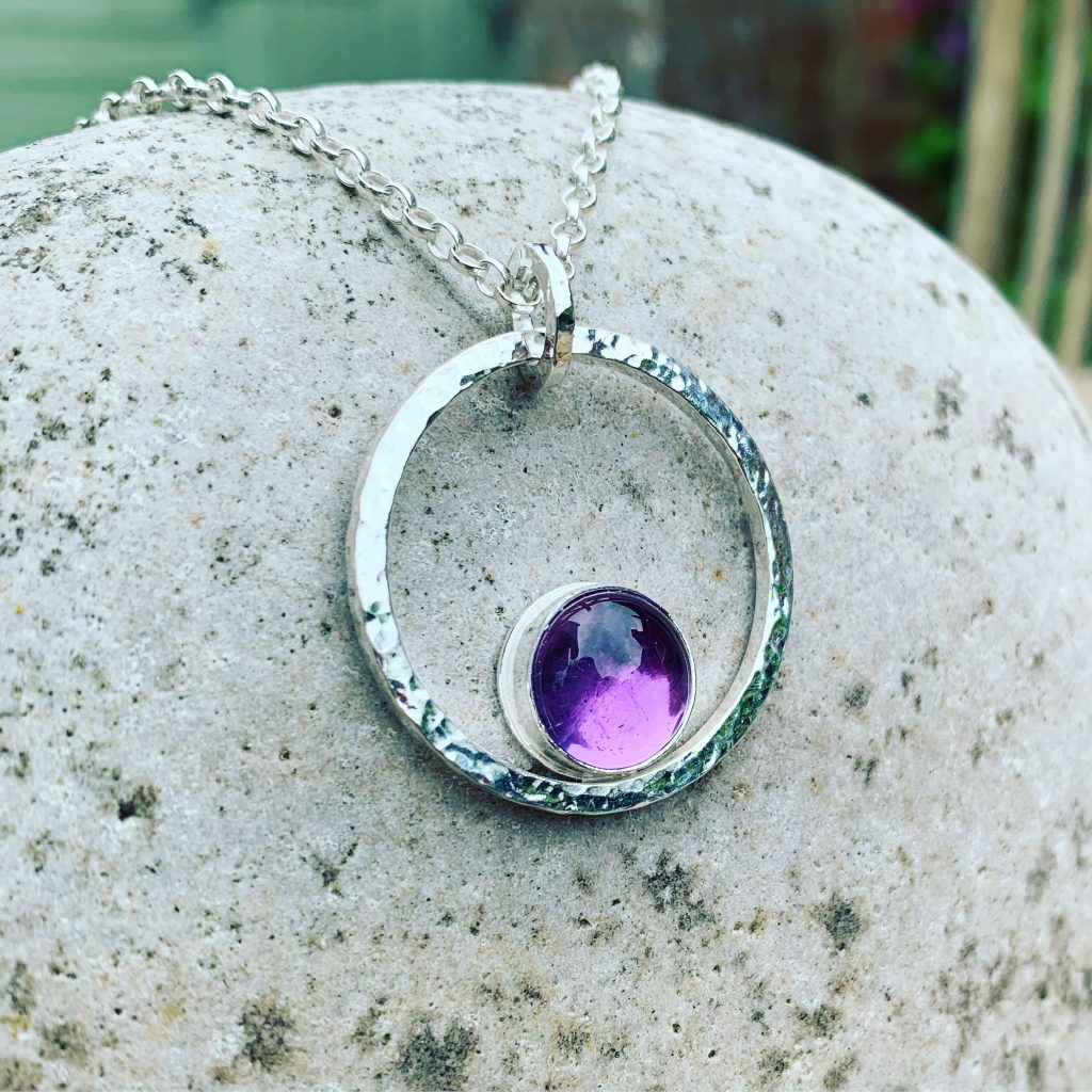 Silver and Amethyst Silver Pendant