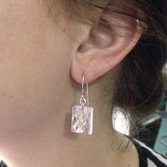 Organic pattern earrings