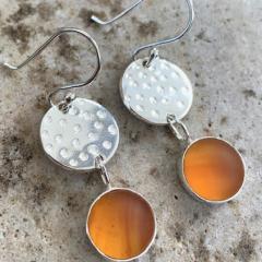 Banded-Amber-Sea-Glass-Earrings-narrow
