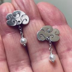 Japanese Cloud Earrings