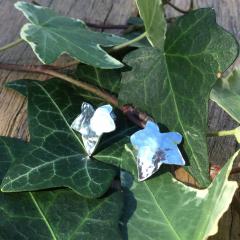 Textured Ivy Leaf Earrings