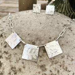Plant-print-Trio-necklace