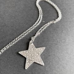 Textured-Star-Pendant