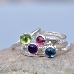 Gemstone Stacker Rings - made to order