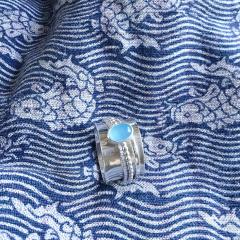 Blue Chalcedony Spinner Ring