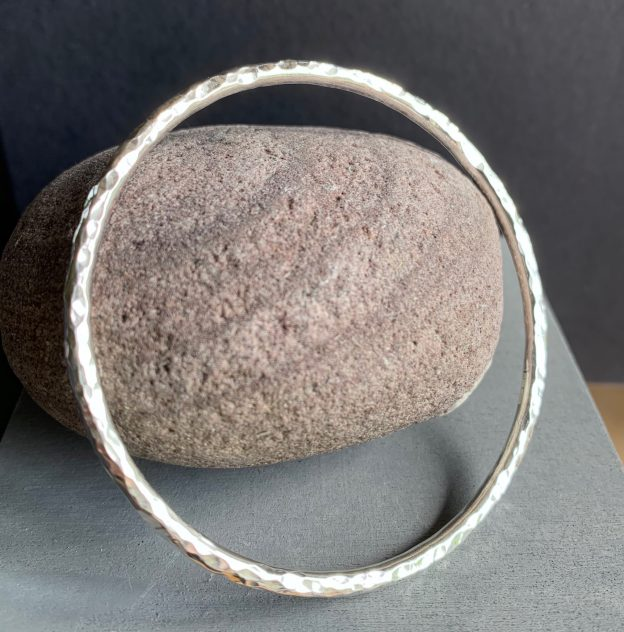 Sold Silver Hammered finish Bangle