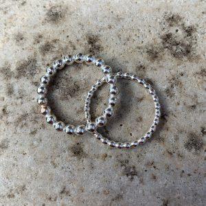 Beaded Silver Rings
