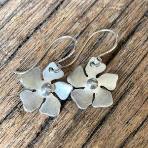 Silver Periwinkle Earrings