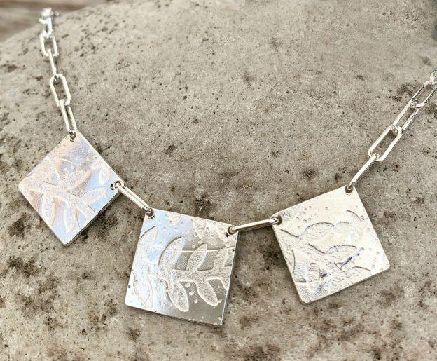 Plant Print Necklace